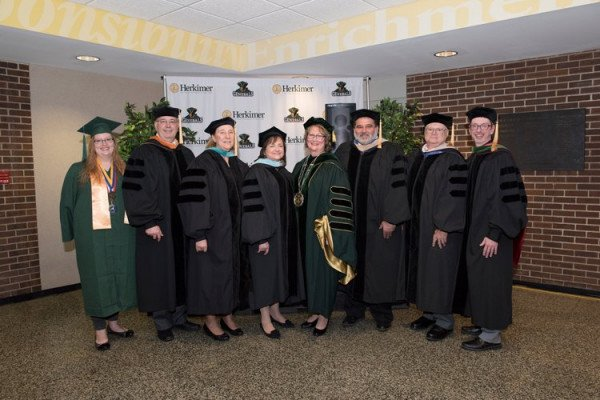 McColgin and Board of Trustees at inauguration