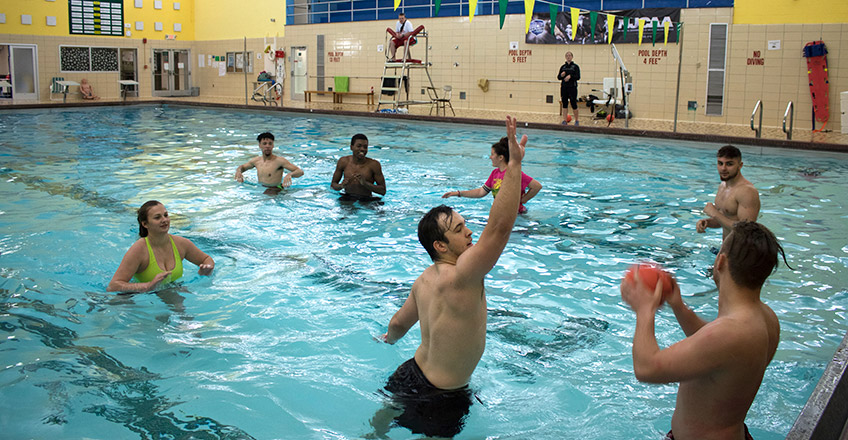 Physical Education Students in Pool